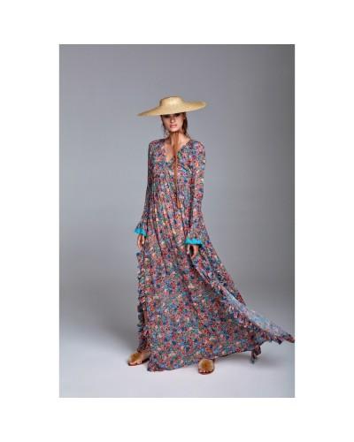YNOT Vestito lungo donna fiorato