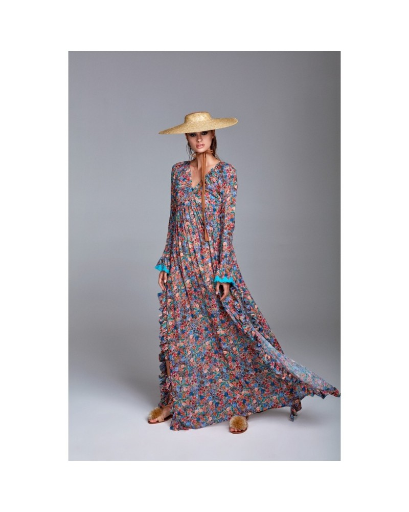 lowest price e0b55 c4ba2 YNOT Vestito lungo donna fiorato