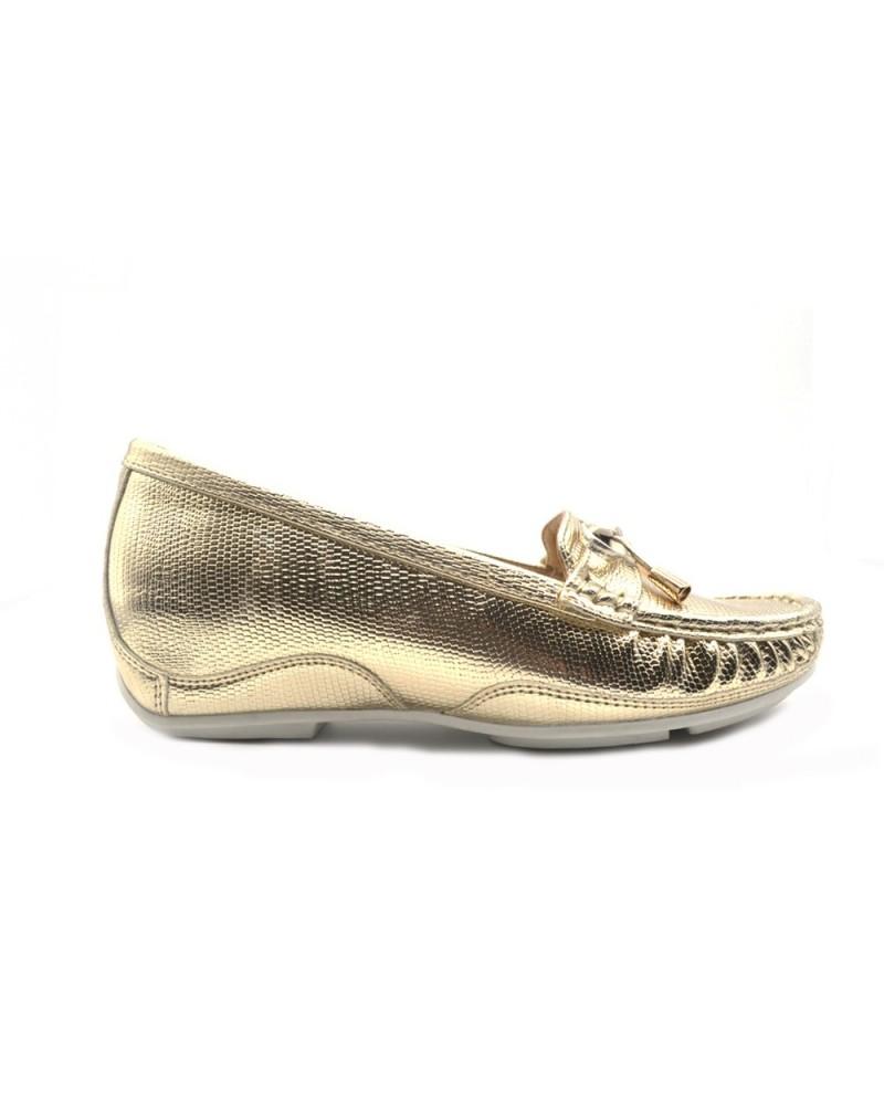 Gattinoni Rome Moccasin women's gold