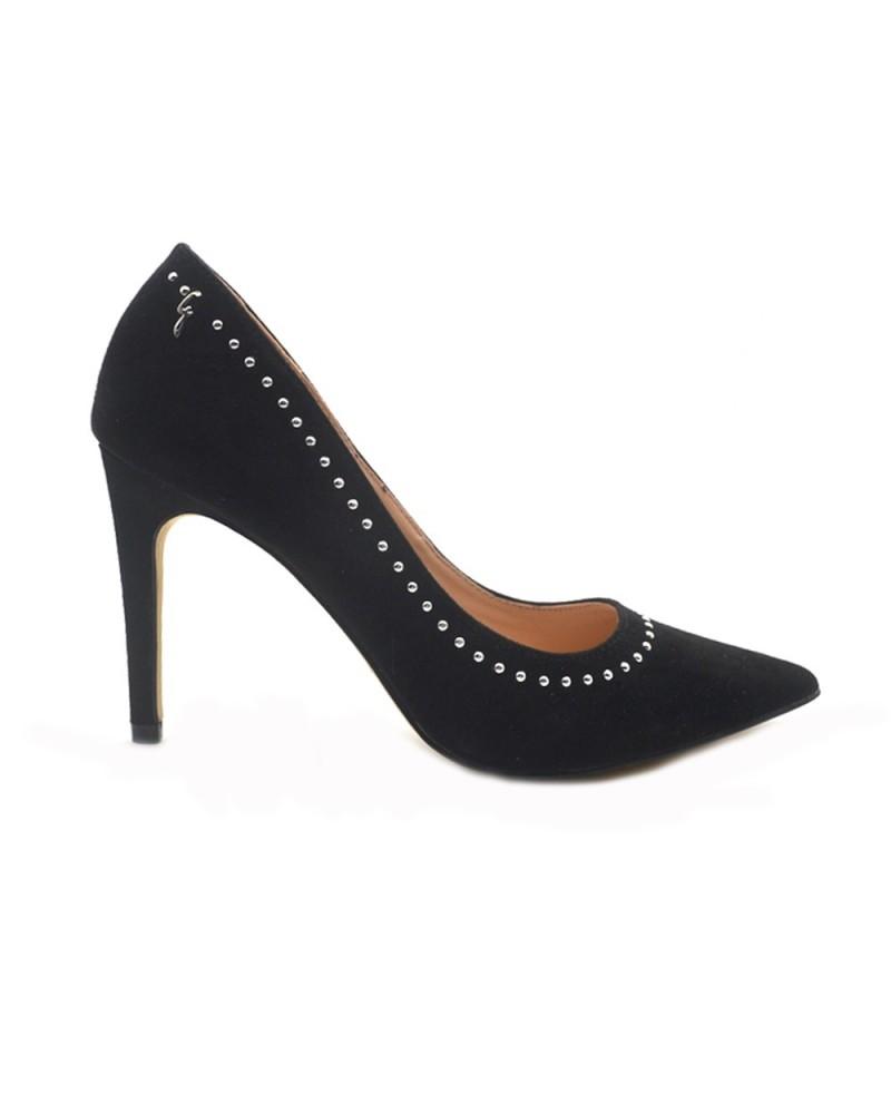 Gattinoni Roma Stilettos woman's black studded