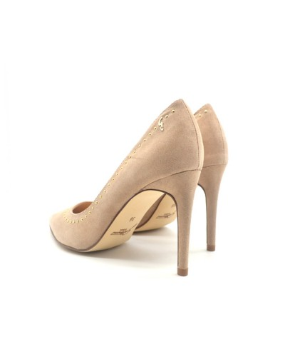 Gattinoni Roma Stilettos women's beige studded