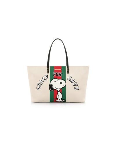 Pandorine Bag Shopper CP Shopper SNOOPY Beige
