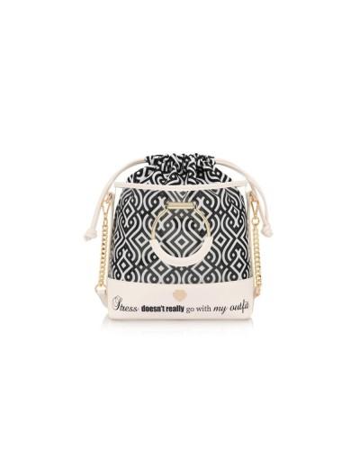 Pandorine Bag Color Hand Bucket OUTFIT Black
