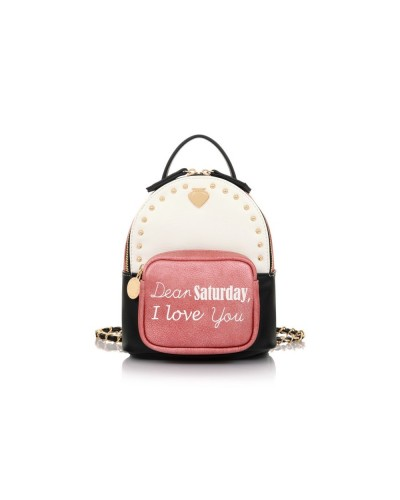 Le pandorine Zaino Mini BackPack SATURDAY White