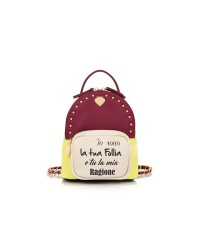 Le Pandorine Zaino Mini BackPack FOLLIA Bordeaux