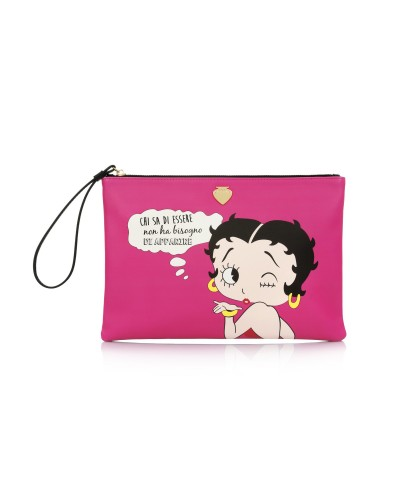 Le Pandorine Clutch BB-Pop-Clutch WERDEN Fuxia