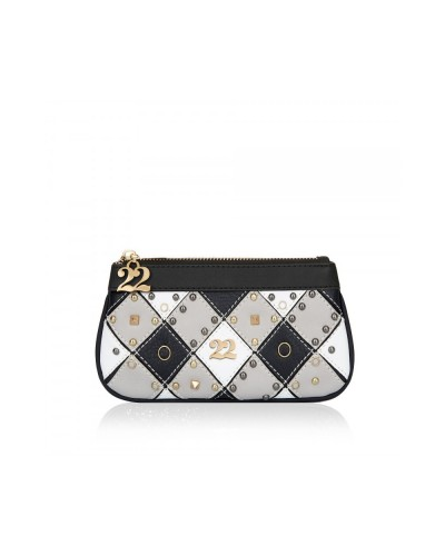 Numeroventidue Clutch bag check-grey