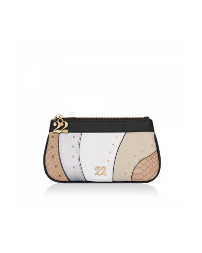 Numeroventidue Clutch bag snake taupe