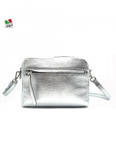 Loristella silver Shoulder Bag real leather
