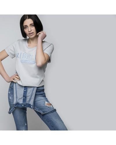 Ranpollo T-Shirt Ricamata donna Capsule aggettivi