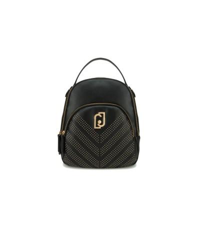 LIU JO Zaino donna con borchie asimmetriche e tasca esterna