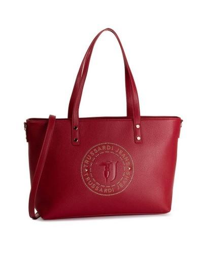 Trussardi Jeans Borsa a spalla shopper donna logo con borchie