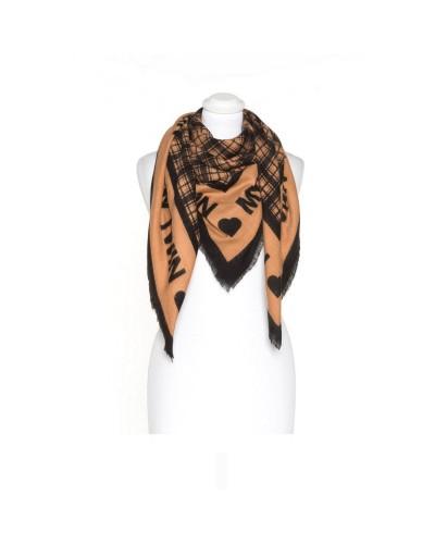 MY TWIN Kefia/foulard donna con fantasia scozzese