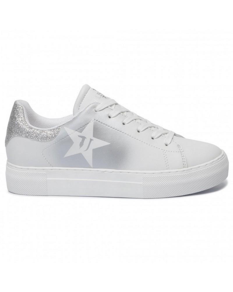Sneakers Star Trussardi Jeans Donna Argento lato