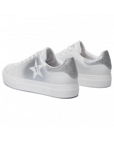Sneakers Star Trussardi Jeans Donna Argento retro
