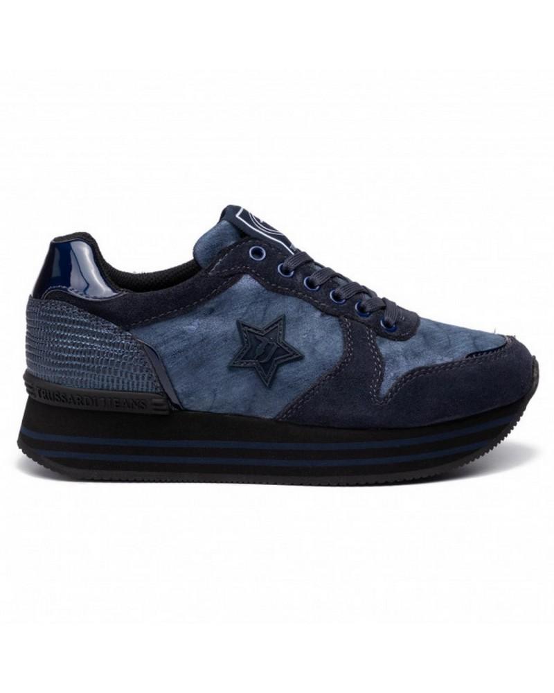 Sneakers Camoscio Trussardi Jeans Scarpa Donna