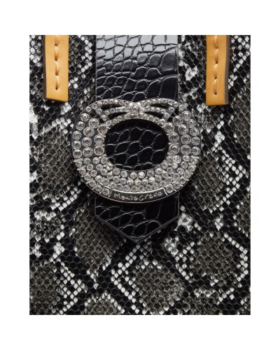 Borsa Manila Grace a mano/tracolla  leopardata grande c/pochette interna