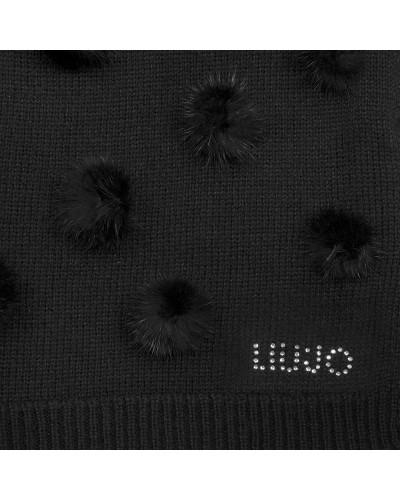 Sciarpa Liu Jo maglia pon pon