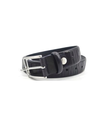 Cintura in vera pelle Bikkembergs da uomo 3,5 cm