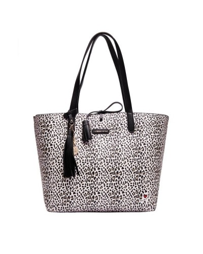Borsa shopping L'atelier Du Sac leopardata. Pashmina in omaggio. Modello Paris