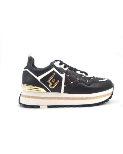 Scarpe sneakers Liu Jo donna. Modello maxi alexia nere con strass