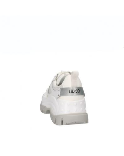 Sarpe sneakers Liu Jo donna metallic white.Modello wave