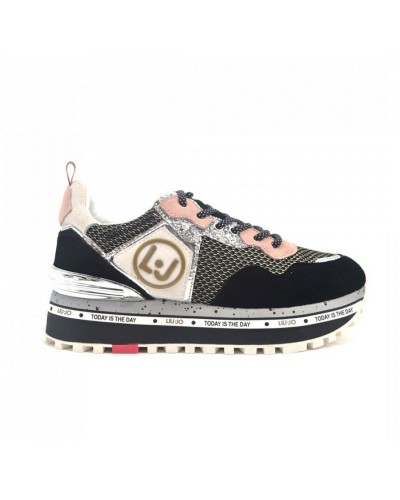 Scarpe sneakers Liu Jo donna running black glitter. Modello Maxi Alexia