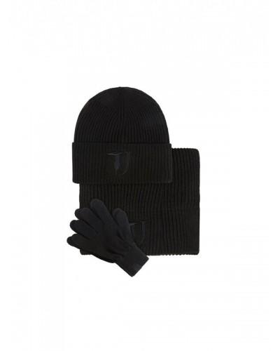 Trussardi Kit Knit flat cappello-guanti-sciarpa