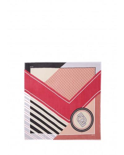 Foulard Liu Jo donna realizzato con filati naturali e una stampa colorblock