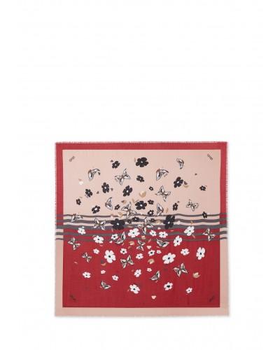 Foulard Liu Jo donna Foulard realizzato con filati in viscosa e una raffinata stampa con farfalle.