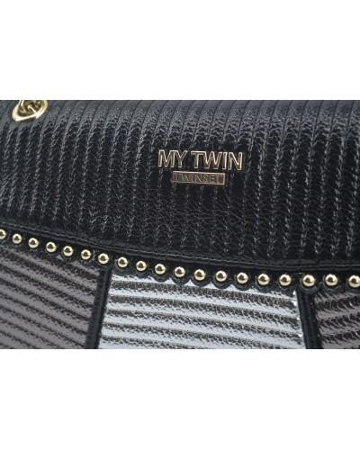 Borsa My Twin a tracolla con patta tre colori metal