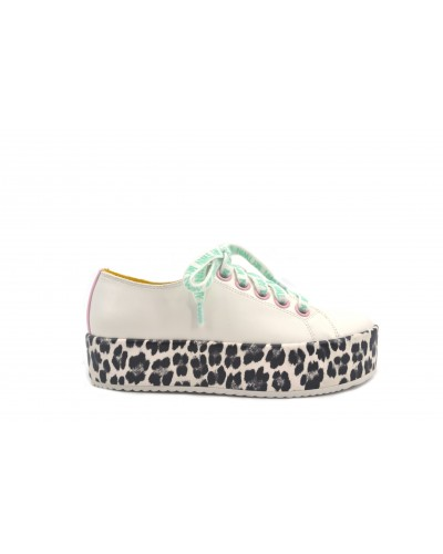 Sneakers My Twin donna suola leopardata