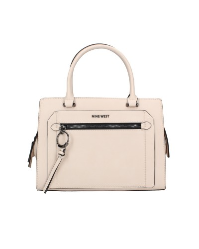 Borsa Nine West a mano/tracolla in ecopelle con tasca sul davanti e chiusura zip. Modello Ring leader