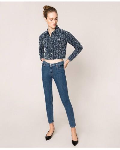 Jeans My Twin donna skinny con cinque tasche denim blue