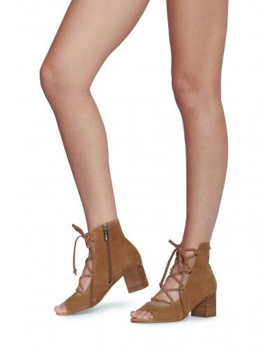 Sandalo Liu Jo donna cuoio con tacco e lacci