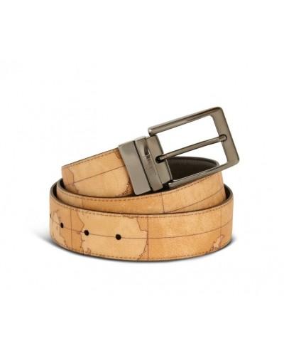 Cintura Alviero Martini reversibile h35  1a Classe da uomo dark brown geographic
