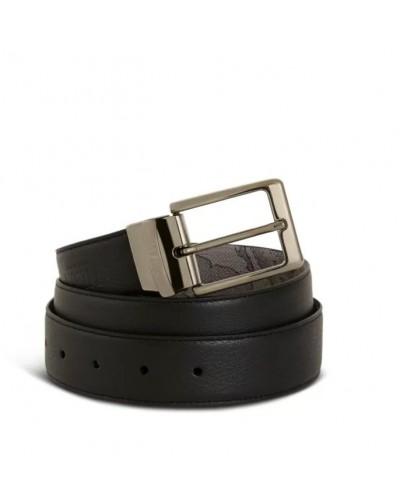 Cintura Alviero Martini reversibile h35  1a Classe da uomo nera e girgio geographic