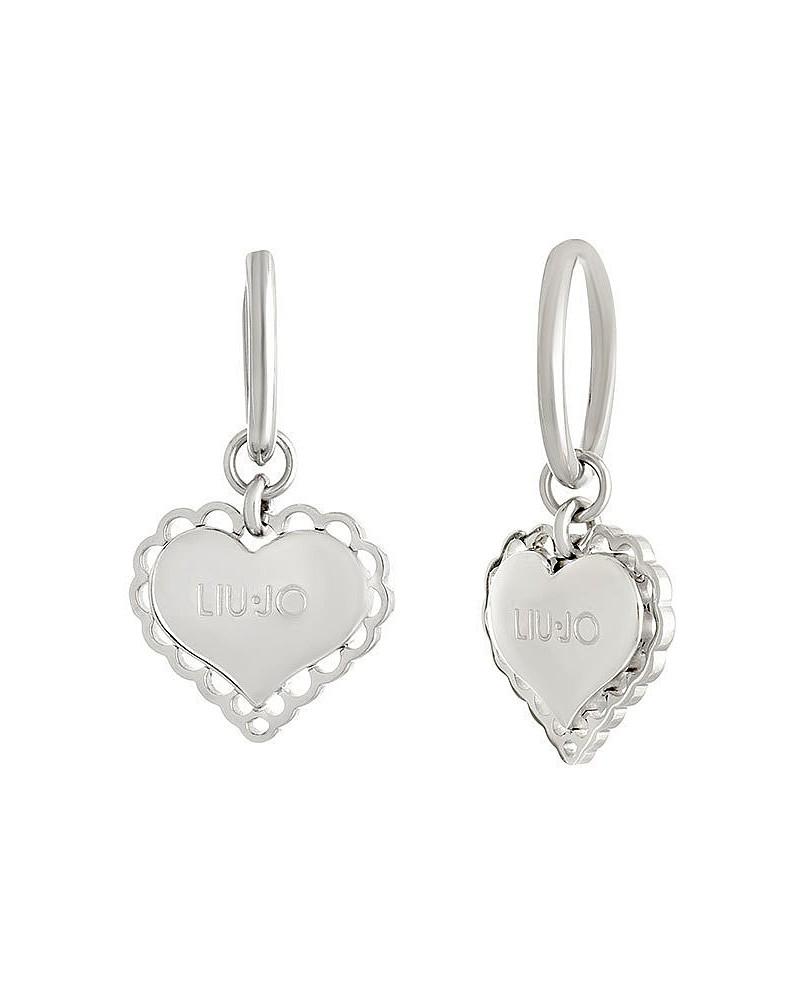 Orecchini Liu Jo donna in acciaio silver pendente cuore