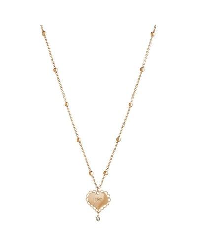 Collana Liu Jo lunga donna in acciaio cuore gold rose