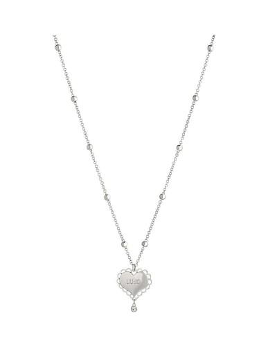 Collana Liu Jo donna in acciaio silver pendente cuorE