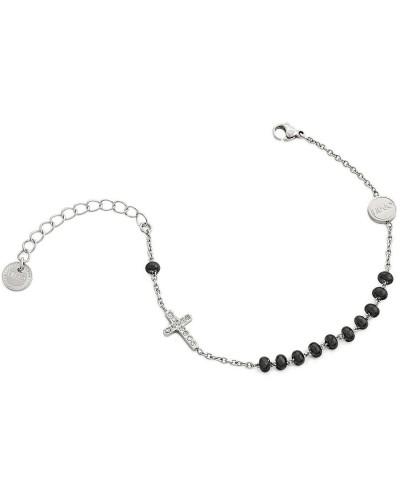 Bracciale Liu Jo donna in acciaio pendente croce silver