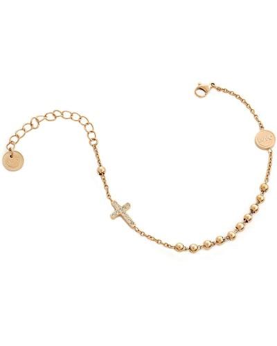 Bracciale Liu Jo donna in acciaio gold rose croce