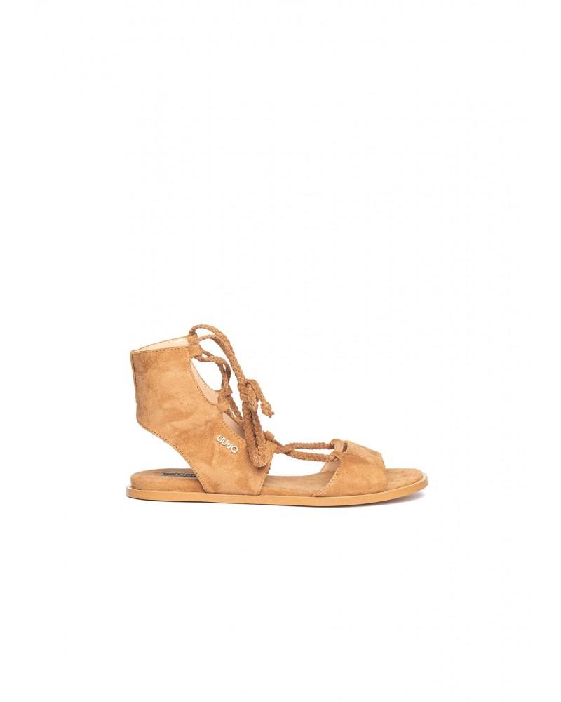 Sandalo Liu Jo donna basso cuoio con lacci