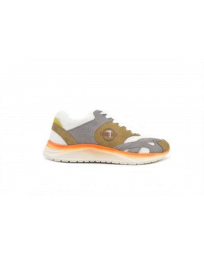 Sneakers Trussardi Jeans running uomo Taupe/ice/yellow