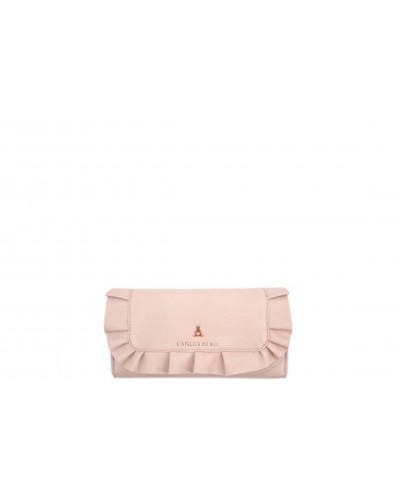 Portafoglio L'atelier du sac con dettagli gold rose. Modello Francine