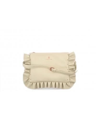 Pochette L'atelier du sac con tracolla e zip. Modello Sophie