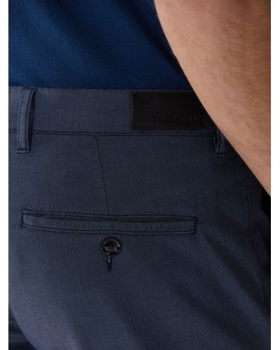 Pantaloni Trussardi Jeans uomo a micropunti in forma anni '70