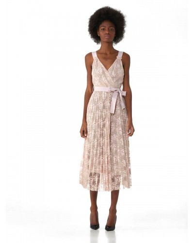 Abito Trussardi Jeans in pizzo Powder Pink