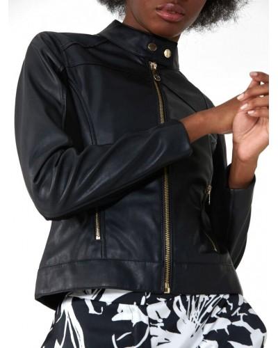 Giacca Trussardi Jeans donna in morbida ecopelle black