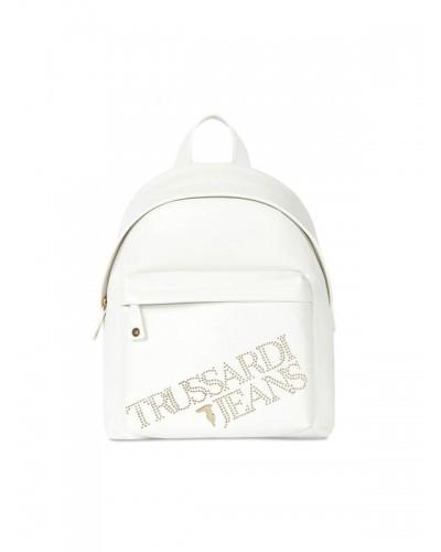 Zaino Trussardi Jeans donna logo con borchie dorate sul davanti